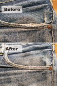 左ポケット