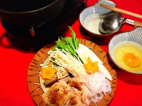 炙り鶏のすき焼き