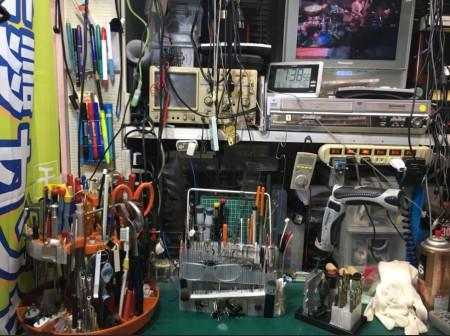 作業台の工具