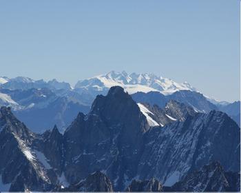 スイスアルプス連山のコピー