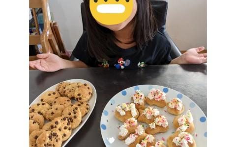 娘とのクッキーづくり♪