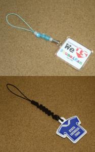 携帯ストラップ、携帯クリーナーの写真